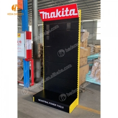 Free standing pegboard advertising garden power tools accessories stand hand tools hanging display rack