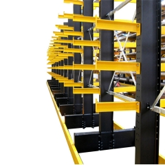 Factory High Quality Pipe or Lumber Warehouse Storage Cantilever Racking Systemlong bulky storage cantilever rack for furniture, lumber, tubing, textiles