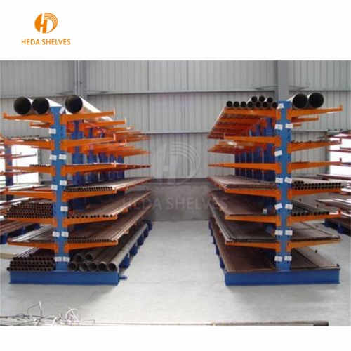 Economical Heavy Duty Warehouse Pipe Storage Galvanized Cantilever Racking System adjustable shelf
