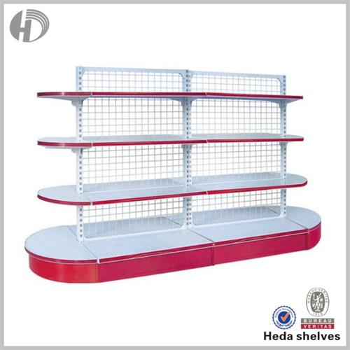 Arc grocery shelving