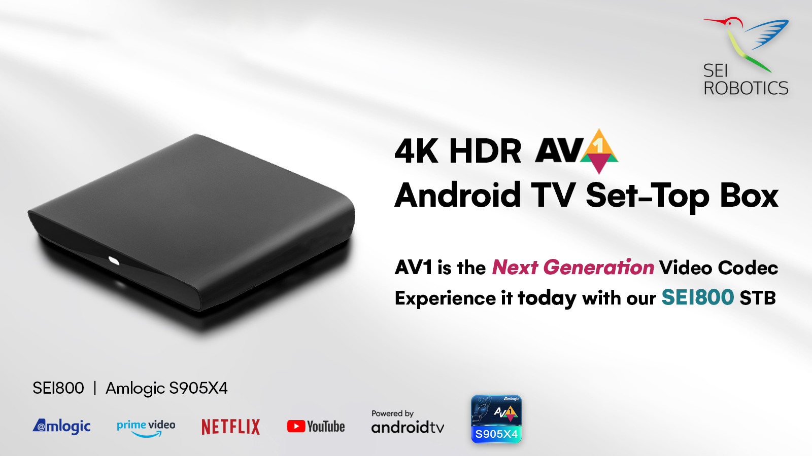 Find our more about our newest AV1-decoding 4K HDR #AndroidTV SEI800 Set-top Box