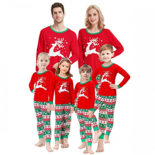 Christmas Tree Pajamas Family Matching Sleepwear Cotton Kids PJs Pants Set