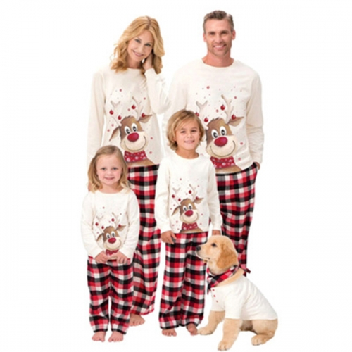Family Christmas Pjs Matching Sets Baby Christmas Matching Jammies for Adults and Kids Holiday Xmas Sleepwear Set