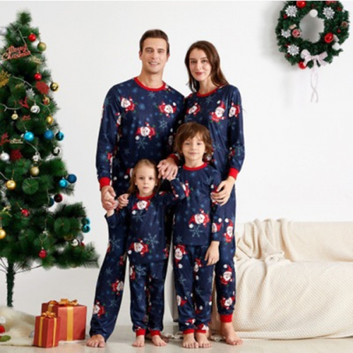 Christmas Family Pajamas Matching Sets Long Sleeve Top and Pants Pjs Sleepwear