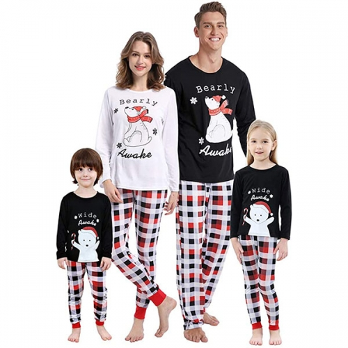 MyFav matching family Christmas pajamas set soft festive pajamas