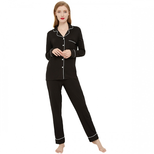 LACTIC Women's Silk Satin Pajama Set Button Pajamas Casual Wear