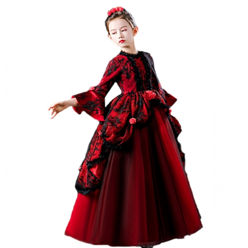 Witch performance vampire bridal ball fluffy girl Catwalk devil princess dress