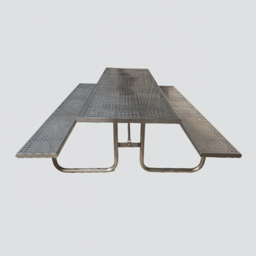 TB12 outdoor stainless steel picnic table