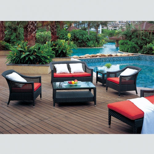 RT-20 Outdoor Patio Sofa Couch Furniture PE Rattan Wicker Sofa Set