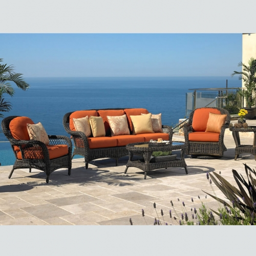 RT-19 Outdoor Patio Sofa Couch Furniture PE Rattan Wicker Sofa Set