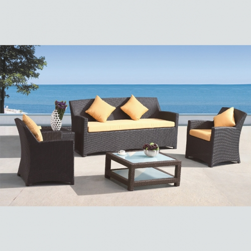RT-26 Rattan Garden Furniture Weave Wicker Sofa Set