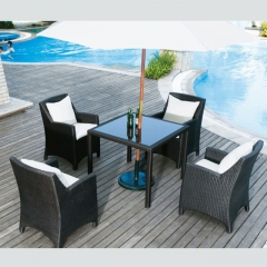 RTC-19 rattan outdoor customized picnic table hot selling