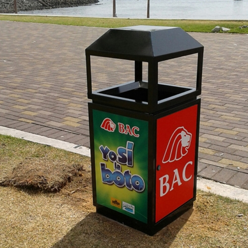 Advertising Steel park waste bin for Australia