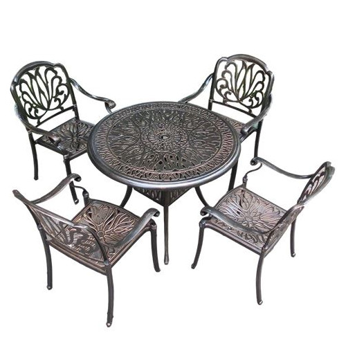 Outdoor Cast Aluminum table and chairs Garden Furniture Sets