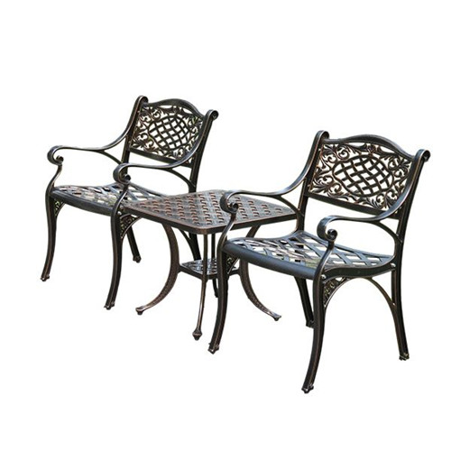 Villa Cast Aluminum Tables And Chairs Garden Furniture
