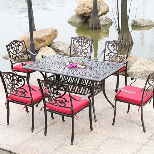 High Quantity Cast Aluminum Dinning Table Set