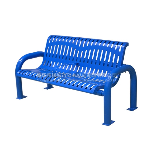 FS59 Modern Metal flat steel Patio Bench outdoor Furniture