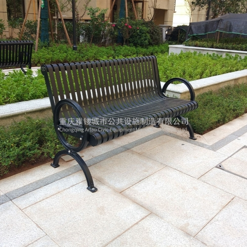 FS65 Metal garden furniture outdoor flat steel benches
