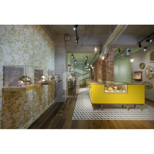Customzied high end level jewelry store interior design