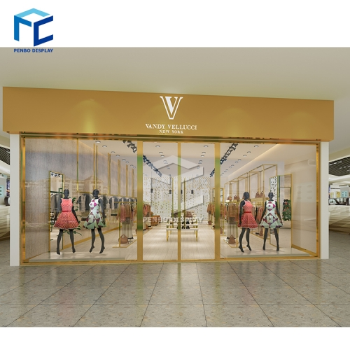 NEW product high quality golden women clothes shop display fixture