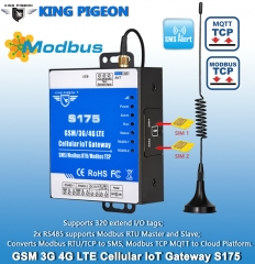 GSM 3G 4G Modbus TCP to MQTT IoT Gateway (1TH,USB,2 RS485,320 Extend I/O tags)