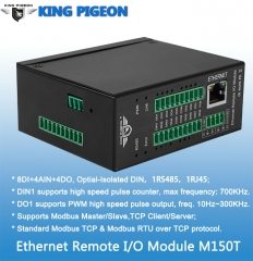 Ethernet Remote IO Module(8DIN+4AIN+4DO,High speed pulse counter,pulse output)