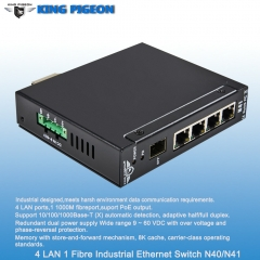 Rugged Industrial Ethernet Switch (4LAN 1 Fibre port, Dual Power Inputs, PoE Output)