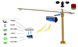 S270 remote tower crane wind speed monitoring