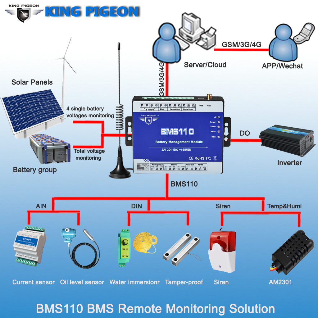 King Pigeon Small Battery Pack Monitoring System BMS110
