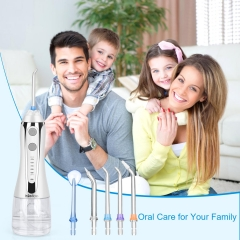 Handheld Water Flosser with Detachable Water Tank and Waterproof Charging Port