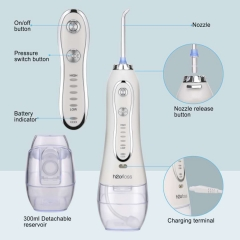 Handheld Water Flosser with 5 Pressure Modes