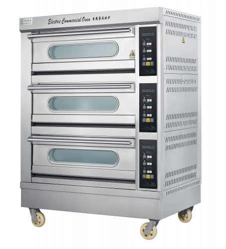 19.8 KW Commercial Micro-Computer Desk Pizza Oven(3 Desk/6 Tray)