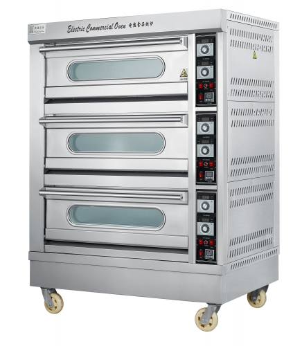 19.8KW Kitchen baking Oven with timing controlled(3 Desk/6 Tray)