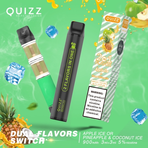 Dual Flavor Switch Disposable Vape Device 1800 puffs