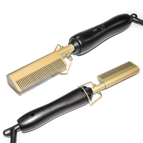 Electric Hot Comb for Hair Straightener & Curling