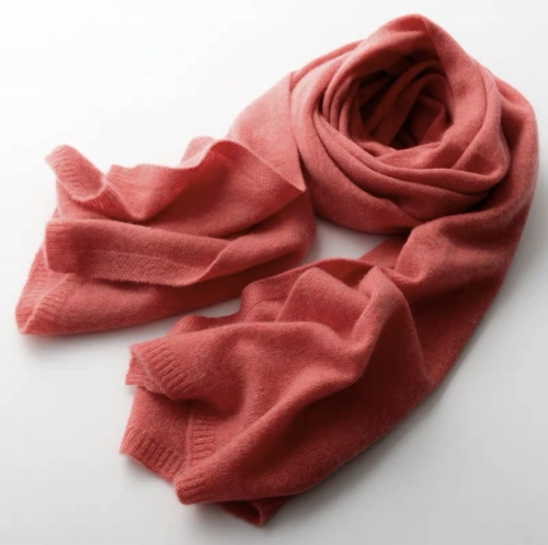 Cashmere scarf (Smoke red)