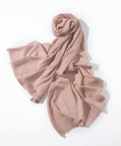 Cashmere scarf ( Smoke rose)