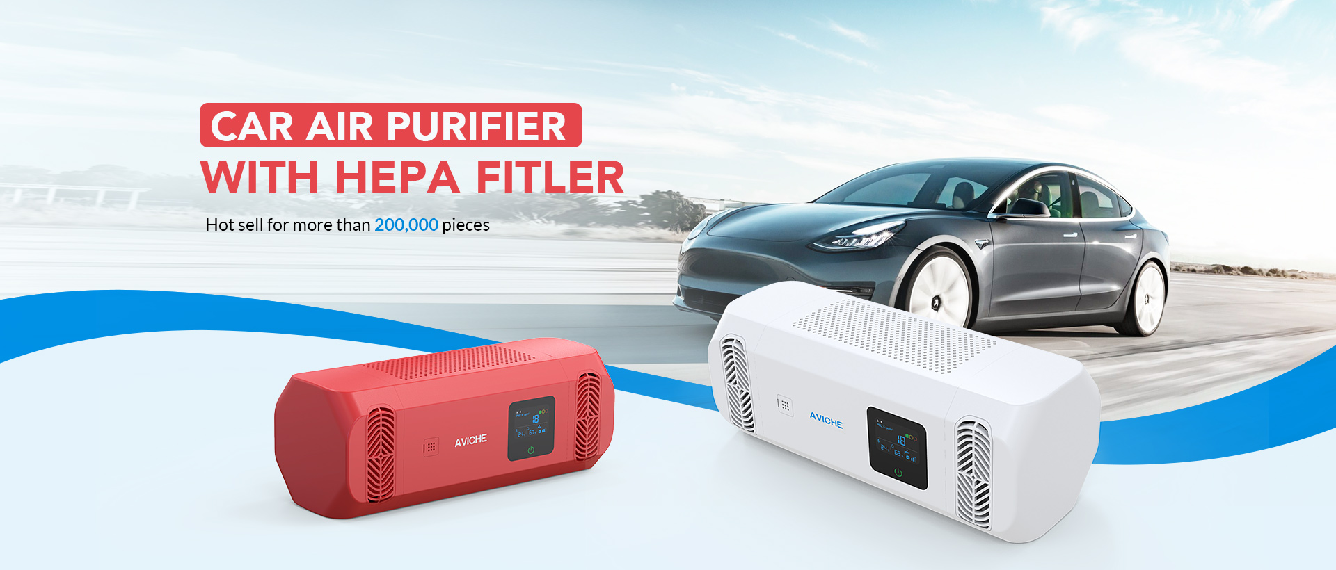 Korea Car Air Purifier With Hepa Filter Air Cleaner