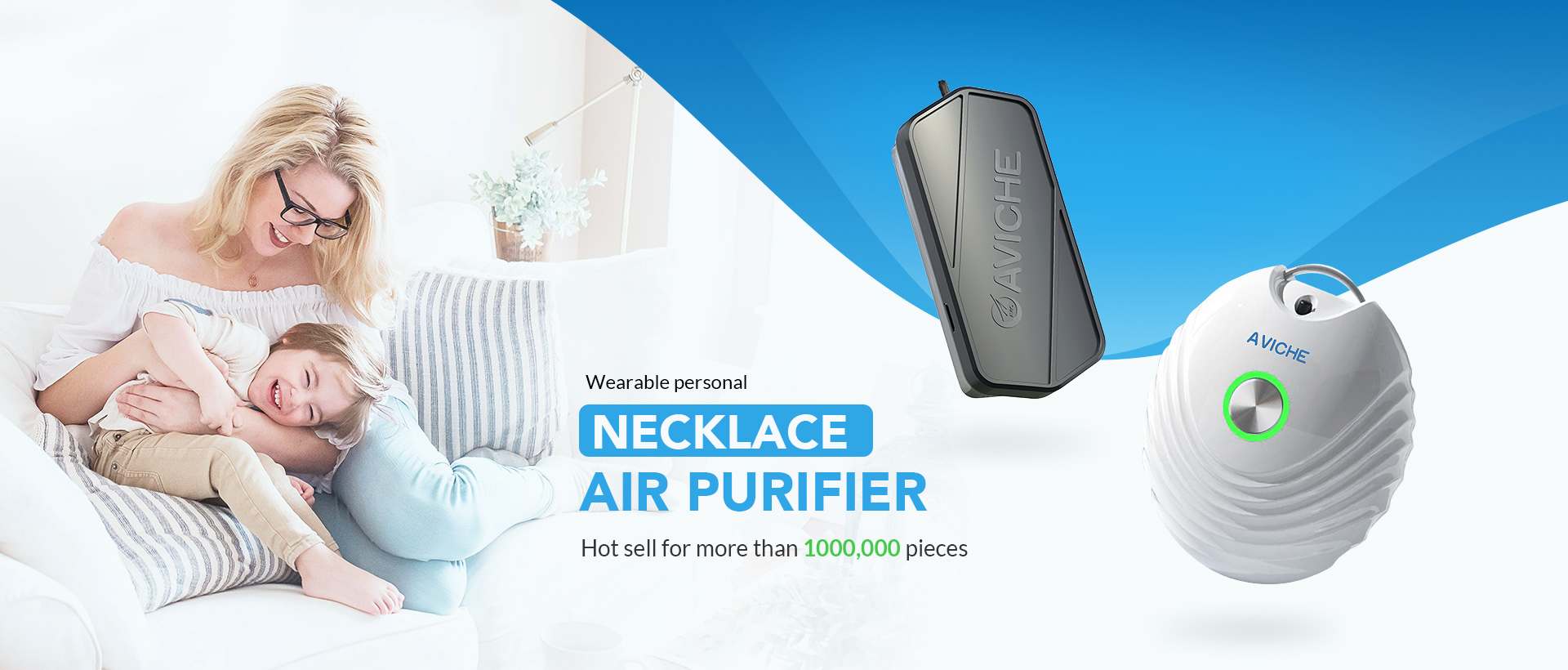 Aviche M1 Version 3.0 Personal  Wearable Air Purifier Necklace