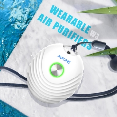 personal portable negative ion necklace ionkini wearable AVICHE W3 white air purifier