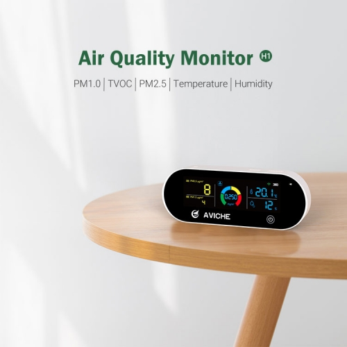 Aviche portable smart air quality monitor PM 2.5 indoor outdoor