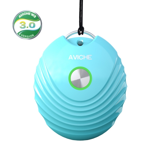 version 3.0 blue ionic small necklace usb baby can use rechargeable air purifier ion necklace customized China