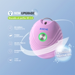AVICHE W3 version 3.0 new updated small pink cute personalized release negative ion air purifier ion necklace
