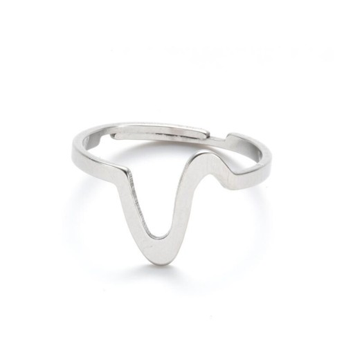 Mountain adjustable opening ring in stainless steel GJZ037-S