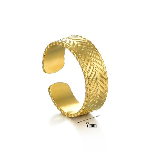 High quality gold plating stainless steel opening adjustable ring