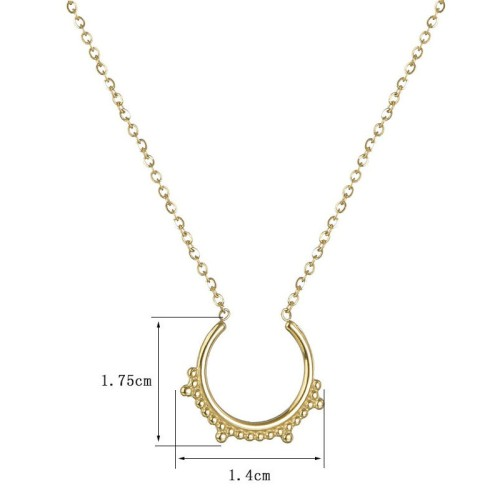 High quality opening vintage frame necklace in stainless steel