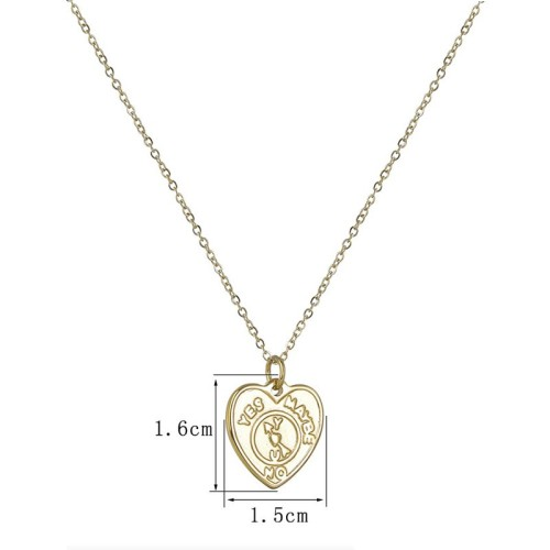Decision heart pendant fashion necklace in stainless steel