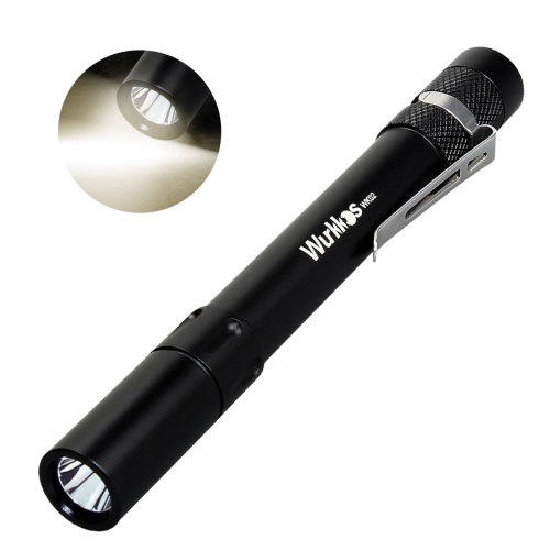 WK02 Penlight 2*AAA Mini Flashlight 300lm SST20 4000K 6000K-Black