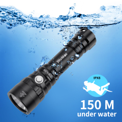 WK20S Powerful Diving Flashlight SST40 2000lm 18650 Dive Light