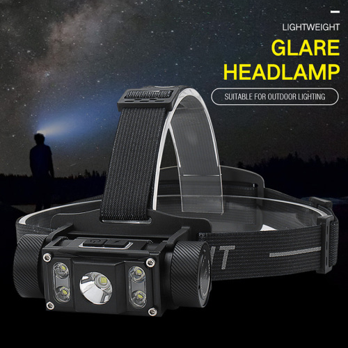 H5 21700 LED Headlamp 1300lm USB-C Rechargeable Flashlight Compatible 18650 AAA with Magnet